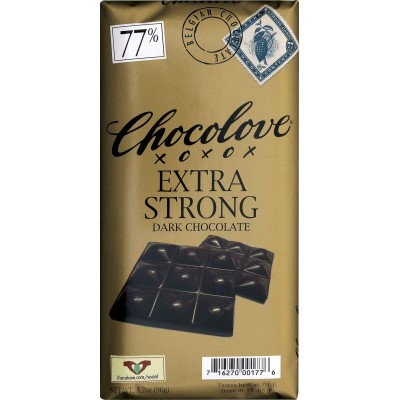 Chocolove Extra Strong Dark Chocolate 77% Cocoa Bar