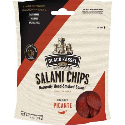 Black Kassel Picante Salami Chips