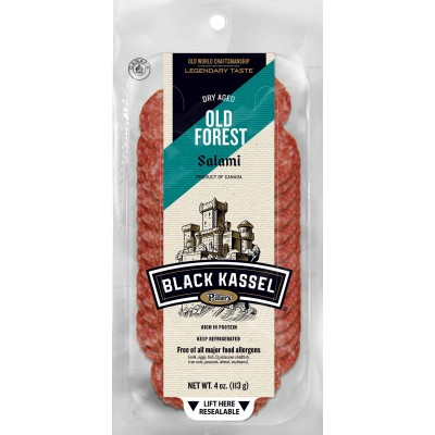 Black Kassel Old Forest Sliced Salami