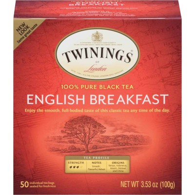Twinings of London English Breakfast Classic Tea 50 CT Box