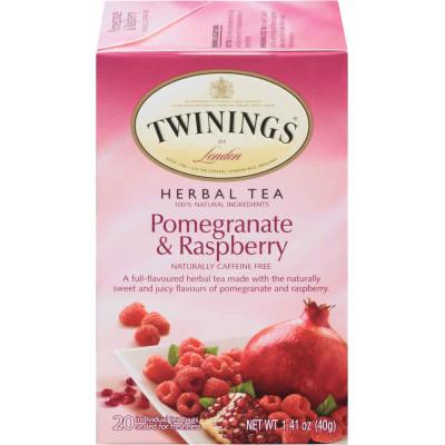 Twinings of London Pomegranate Raspberry Herbal Tea