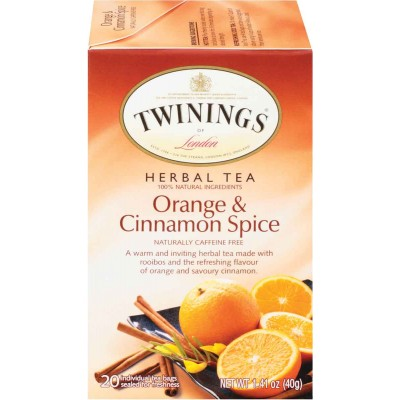 Twinings of London Orange and Cinnamon Spice Herbal Tea