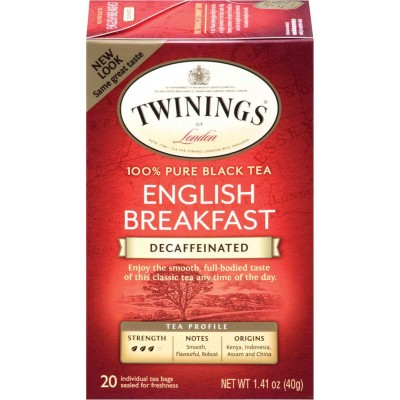 Twinings of London English Breakfast Decaffeinated Classic Tea