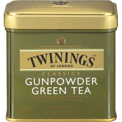 Twinings of London Loose Green Gunpowder Tea Tin