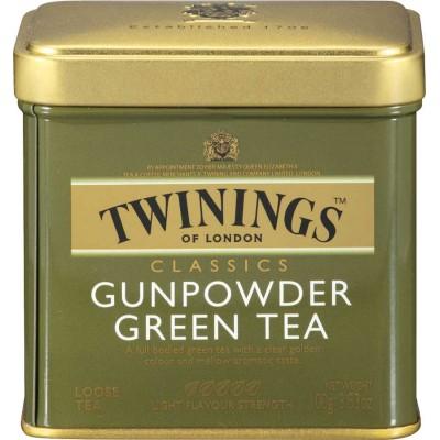 Twinings of London Loose Green Gunpowder Tea Tin