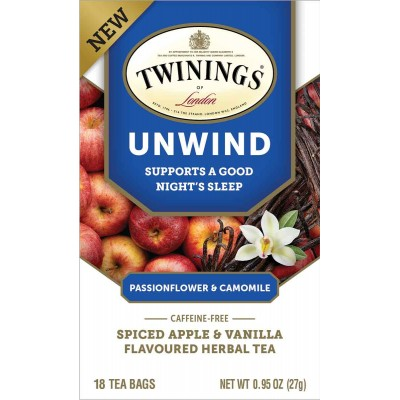 Twinings of London Wellness Tea Unwind 18 Count