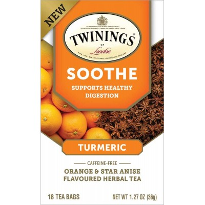 Twinings of London Wellness Tea Soothe 18 Count