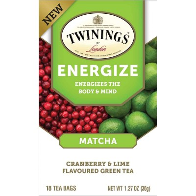 Twinings of London Wellness Tea Energize 18 Count