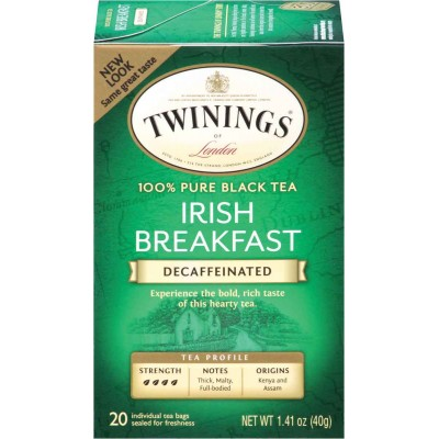 Twinings of London Irish Breakfast Decaffeinated Classic Tea