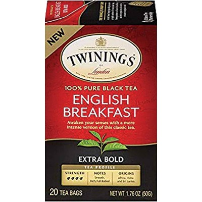 Twinings of London English Breakfast Extra Bold 20 Count