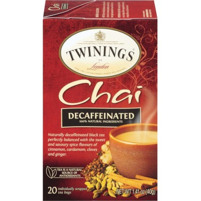 Twinings of London Decaffeinated Chai Tea