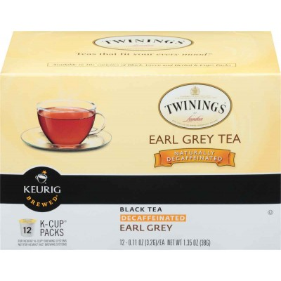 Twinings of London K Cup Earl Grey Decaffeinated Tea