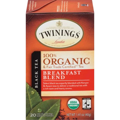 Twinings of London Organic Breakfast Blend Tea