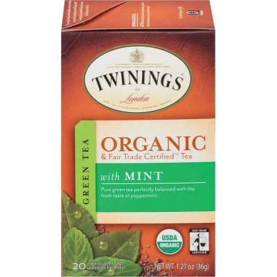 Twinings of London Organic Green Tea with Mint