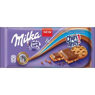 Milka Chips Ahoy Milk Chocolate Bar