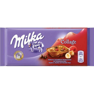 Milka Raspberry Hazelnut Chocolate Collage Bar