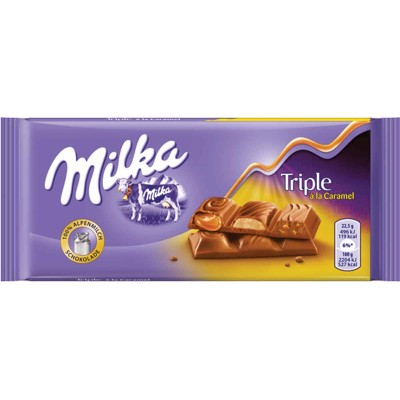 Milka Triple Caramel Milk Chocolate Bar