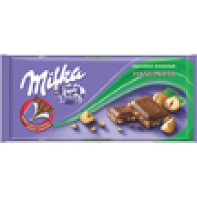 Milka Crushed Hazelnut Chocolate Bar