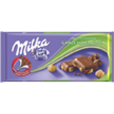 Milka Whole Hazelnuts Chocolate Bar