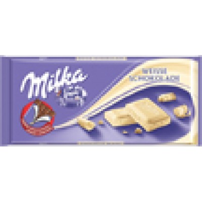 Milka White Chocolate Bar