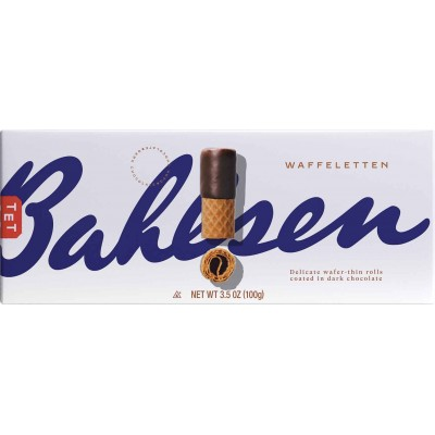 Bahlsen Dark Chocolate Wafer Rolls Cookie Box