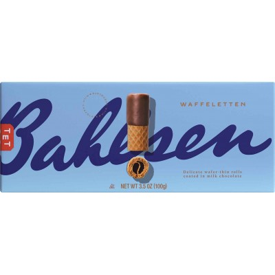 Bahlsen Milk Chocolate Wafer Rolls Cookie Box