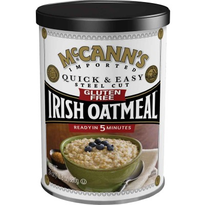 McCanns Gluten Free Quick & Easy Steel Cut Oatmeal Box