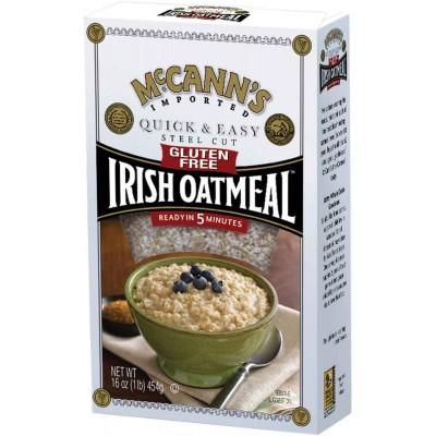 McCanns Gluten Free Quick & Easy Steel Cut Oatmeal Box