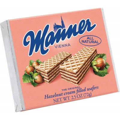 Manner Hazelnut Wafer Cookie Single Serve