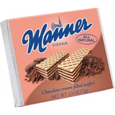 Manner Chocolate Wafer Cookie Single Serve