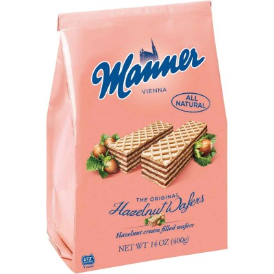 Manner Hazelnut Cream Wafer Cookie Bag