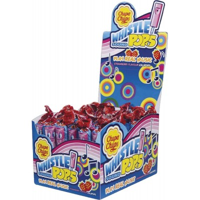 Chupa Chups Strawberry Whistle Lollipops