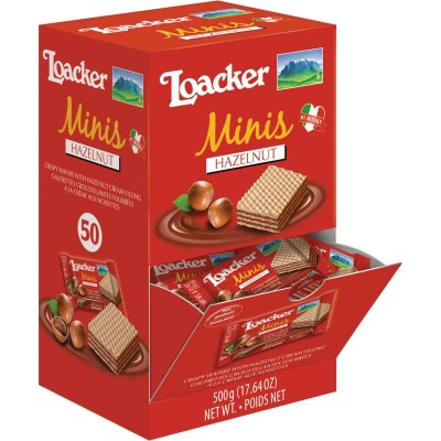 Loacker Hazelnut Mini Quadratini Displays