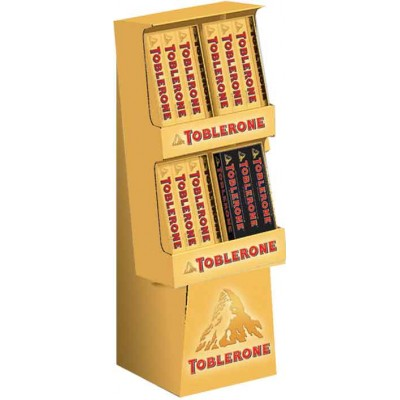 Toblerone Milk & Dark Chocolate Display