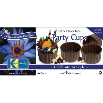 Kane Candy Large Dark Chocolate Party Cups