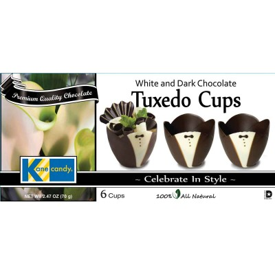Kane Candy White and Dark Chocolate Tuxedo Cups