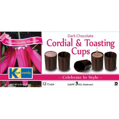 Kane Candy Dark Chocolate Cordial and Toasting Cups