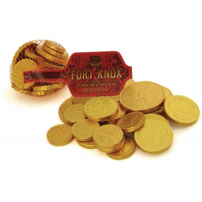 Fort Knox Gold Coins in Mesh Bag