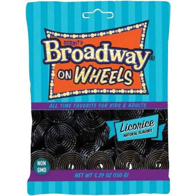 Gustaf's Black Licorice Wheels