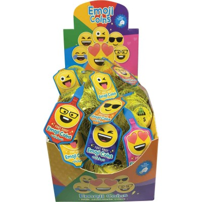 Fort Knox Emoji Foiled Chocolate Coins