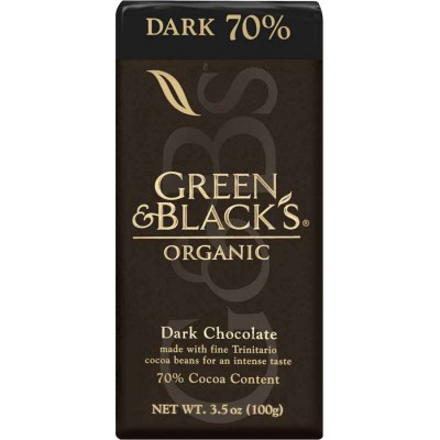 Green & Black Dark Chocolate 70% Organic Bar