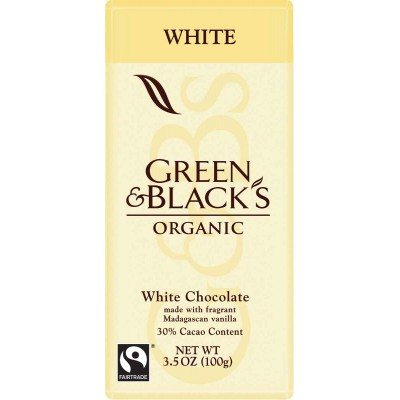 Green & Black White Chocolate Organic Bar