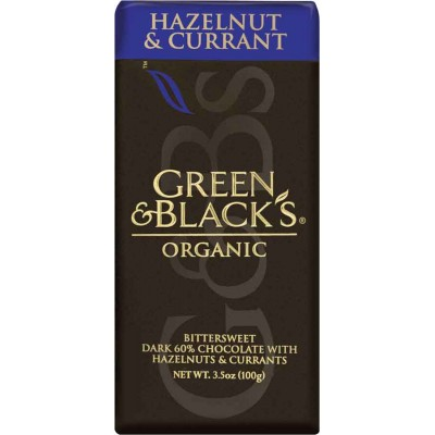 Green & Black Hazelnut and Currant Dark Chocolate Organic Bar