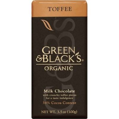 Green & Black Toffee Milk Chocolate Organic Bar