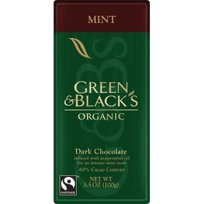 Green & Black Dark Chocolate with Mint Organic Bar