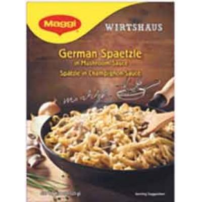 Maggi Spaetzle with Mushroom Sauce