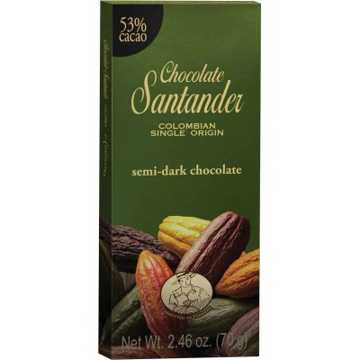 Chocolate Santander 53% Cacao Semi Dark Chocolate Bar
