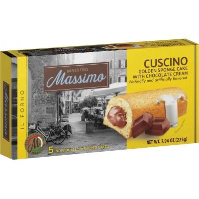 Maestro Massimo Cuscino Sponge Cake with Chocolate Cream Filling 5pc Box