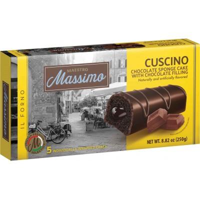 Maestro Massimo Cuscino Chocolate Sponge Cake with Chocolate Filling 5pc Box