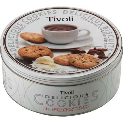 Tivoli Milk & Dark Chocolate Cookie Tin Assortment
